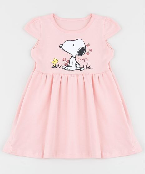 Vestido-Infantil-Snoopy-Manga-Curta-Rosa-9955318-Rosa_1