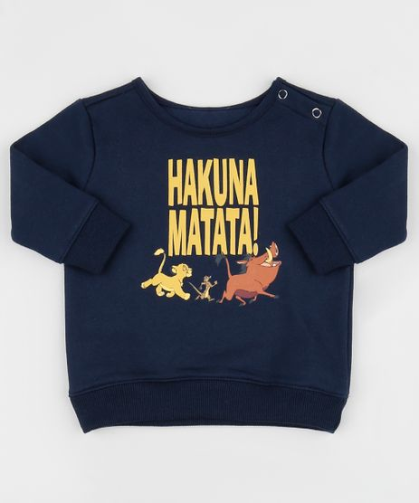 Blusao-de-Moletom-Infantil--Hakuna-Matata---O-Rei-Leao-Manga-Curta--Azul-Marinho-9960098-Azul_Marinho_1