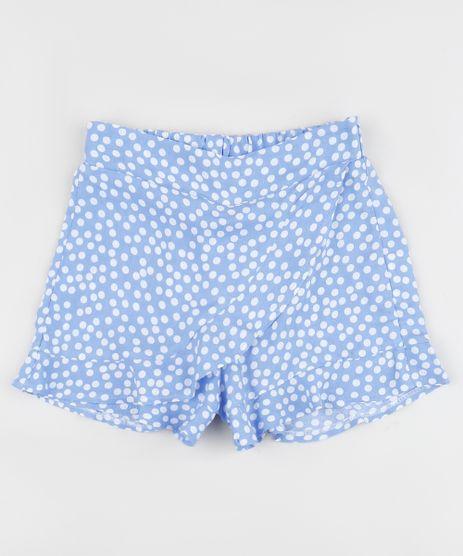 Short-Saia-Infantil-Estampado-de-Poa--Azul-9963619-Azul_1