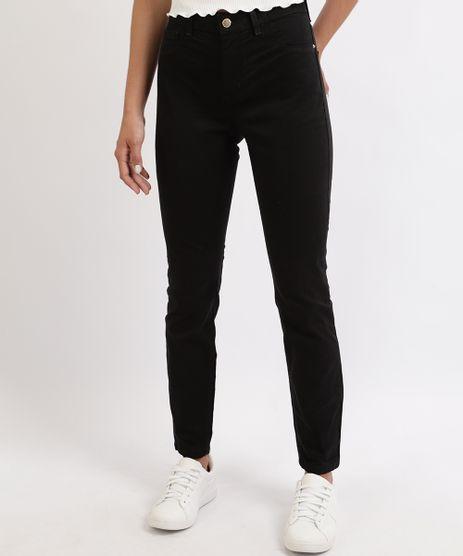 Calca-Jeans-Feminina-Cigarrete-Cintura-Media--Preta-9962466-Preto_1