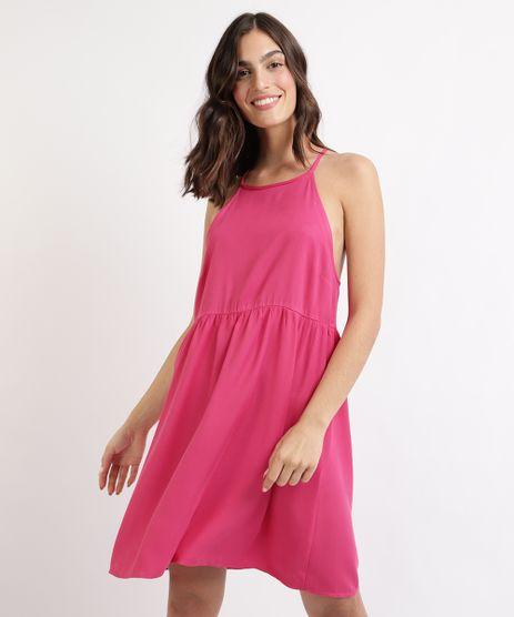 Vestido-Feminino-Mindset-Curto-Halter-Neck-com-Recorte-Pink-9964131-Pink_1