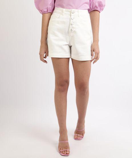 Short-de-Sarja-Feminino-Mindset-Cintura-Super-Alta-com-Botoes-Off-White-9964416-Off_White_1