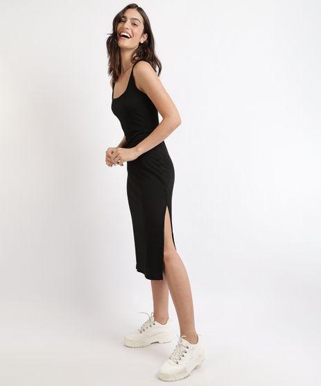 Vestido-Feminino-Mindset-Midi-Canelado-com-Fendas-Sem-Manga-Preto-9964421-Preto_1
