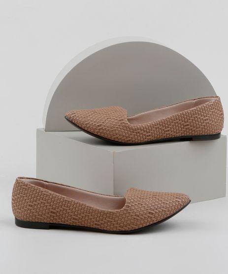 Slipper-Feminino-Moleca-Bico-Fino-Texturizado-Bege-9963523-Bege_1