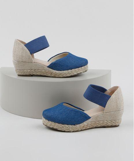 Espadrille-Jeans-Infantil-Palomino-Texturizada-Azul-Medio-9964937-Azul_Medio_1