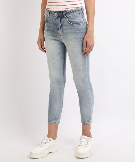 Calca-Jeans-Feminina-Cropped-Cintura-Alta--Azul-9960646-Azul_1