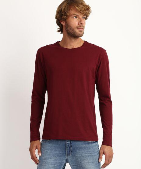 Camiseta-Masculina-Antiviral-Basica-Manga-Longa-Gola-Careca-Vinho-9958432-Vinho_1