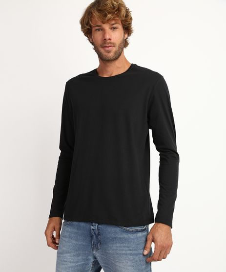 Camiseta-Masculina-Antiviral-Basica-Manga-Longa-Gola-Careca-Preta-9958432-Preto_1