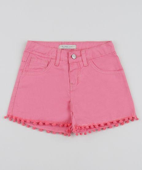 Short-de-Sarja-Infantil-com-Pompom-Rosa-9957876-Rosa_1