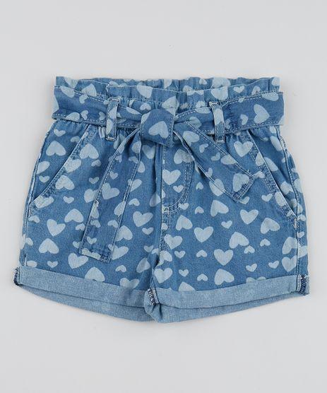 Short-Jeans-Infantil-Clochard-Estampado-de-Coracoes-com-Faixa-para-Amarrar-Azul-Medio-9959400-Azul_Medio_1
