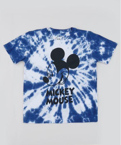 Camiseta-Infantil-Mickey-Estampada-Tie-Dye-Manga-Curta-Azul-Marinho-9960377-Azul_Marinho_1