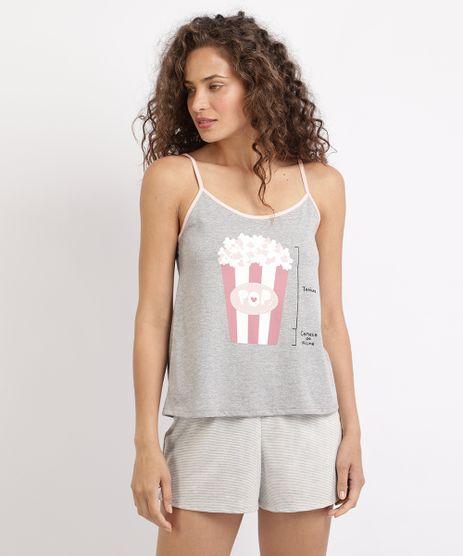 Pijama-Feminino-Pipoca-Estampado-Listrado-Alca-Fina-Cinza-Mescla-9957476-Cinza_Mescla_1