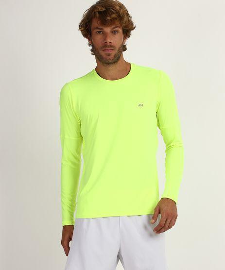 Camiseta-Masculina-Running-Esportiva-Ace-Manga-Longa-Gola-Careca-com-Protecao-UV-50--Amarela-9958498-Amarelo_1