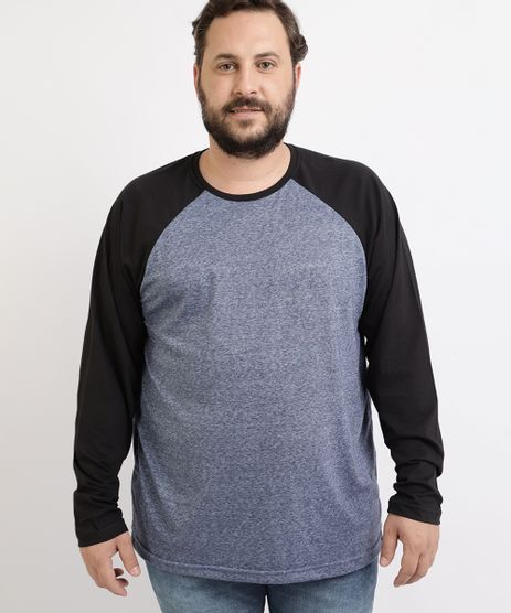 Camiseta-Masculina-Plus-Size-Raglan-Manga-Longa-Gola-Careca-Azul-Marinho-9964122-Azul_Marinho_1
