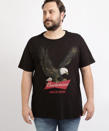 Camiseta-Masculina-Plus-Size-Budweiser-Aguia-Manga-Curta-Gola-Careca-Preta-9962227-Preto_1