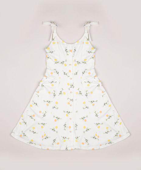 Vestido-Juvenil-Estampado-Floral-com-Botoes-Alcas-Finas-de-Amarrar-Off-White-9955080-Off_White_1