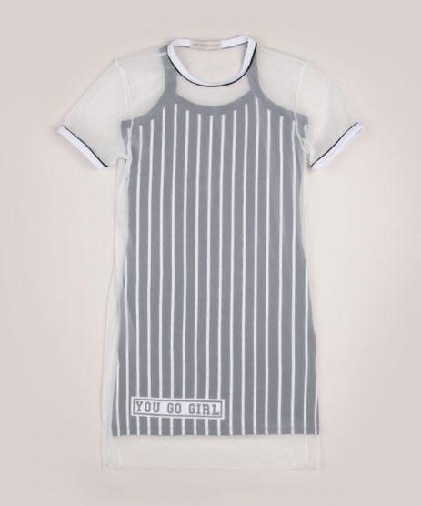 Vestido-Juvenil-com-Sobreposicao-de-Tule-Estampado-Listrado-Manga-Curta-Cinza-9956165-Cinza_1