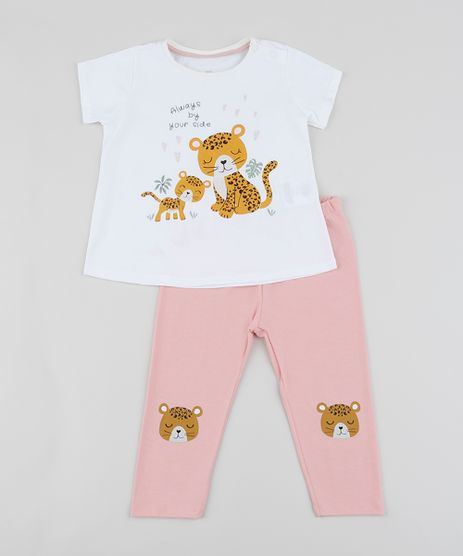 Conjunto-Infantil-de-Blusa-Onca-Manga-Curta-Off-White---Calca-Legging--Rosa-9951599-Rosa_1
