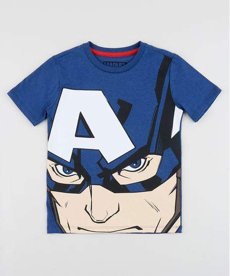 Camiseta-Infantil-Capitao-America-Manga-Curta-Gola-Careca-Azul-Marinho-9953504-Azul_Marinho_1