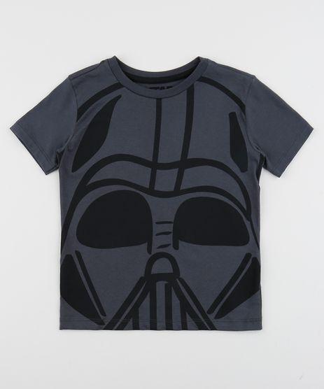 Camiseta-Infantil-Darth-Vader-Star-Wars-Manga-Curta-Gola-Careca-Chumbo-9953507-Chumbo_1