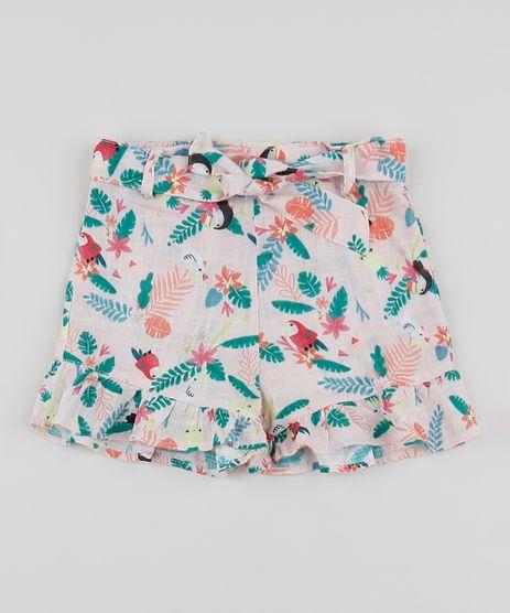 Short-Infantil-Clochard-Estampado-de-Tucanos-com-Babados-Rosa-Claro-9955030-Rosa_Claro_1