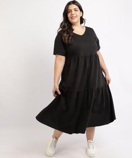 Vestido-Feminino-Plus-Size-Mindset-Midi-Moletinho-Manga-Curta-Preto-9959947-Preto_1
