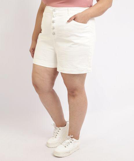 Bermuda-Feminina-Plus-Size-Mindset-com-Botoes-e-Bolsos-Cintura-Alta-Branco-9964413-Branco_1
