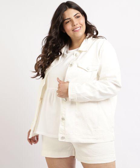 Jaqueta-Jeans-Feminina-Plus-Size-Mindset-com-Recortes-Bolsos-e-Botoes-Branca-9964414-Branco_1