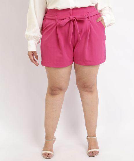 Short-Feminino-Plus-Size-Mindset-com-Faixa-e-Bolsos-Cintura-Alta-Pink-9964447-Pink_1
