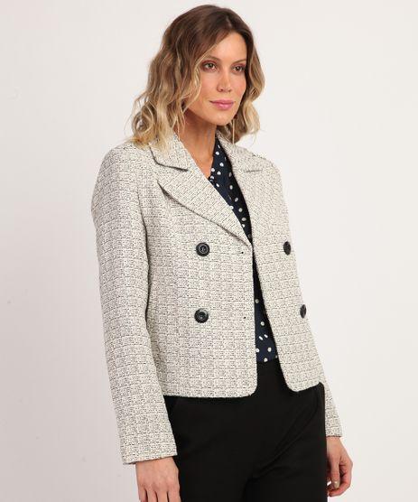 Blazer-Feminino-Texturizado-Transpassado-Curto-com-Botoes-Off-White-9814324-Off_White_1