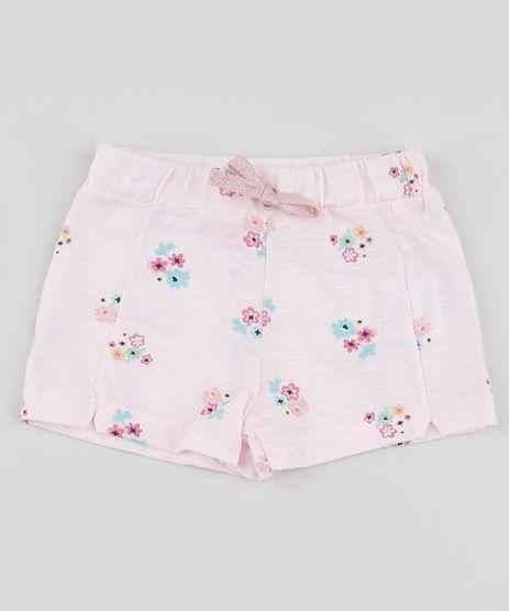 Short-Infantil-Estampado-Floral-com-Cordao--Rosa-Claro-9952745-Rosa_Claro_1