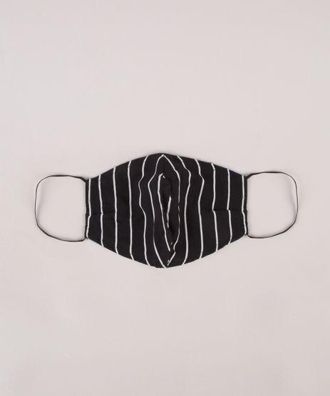 Mascara-de-Tecido-Reutilizavel-para-Protecao-Individual-Listrada-Preta-9953324-Preto_1