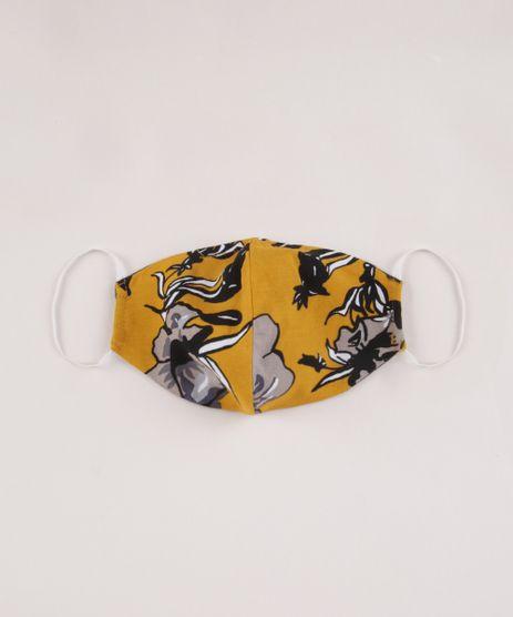 Mascara-de-Tecido-Reutilizavel-para-Protecao-Individual-Estampada-Floral-Amarela-9953652-Amarelo_1