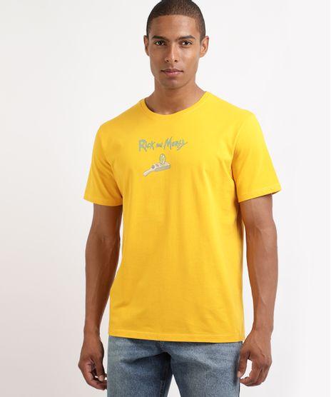 Camiseta-Masculina-Rick-e-Morty-Manga-Curta-Gola-Careca-Amarela-9962585-Amarelo_1