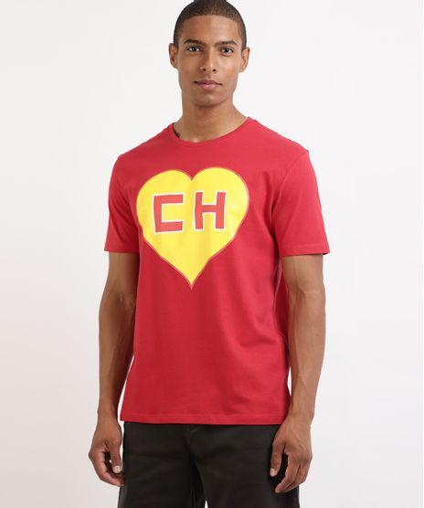 Camiseta-Masculina-Chapolin-Manga-Curta-Gola-Careca-Vermelha-9963551-Vermelho_1