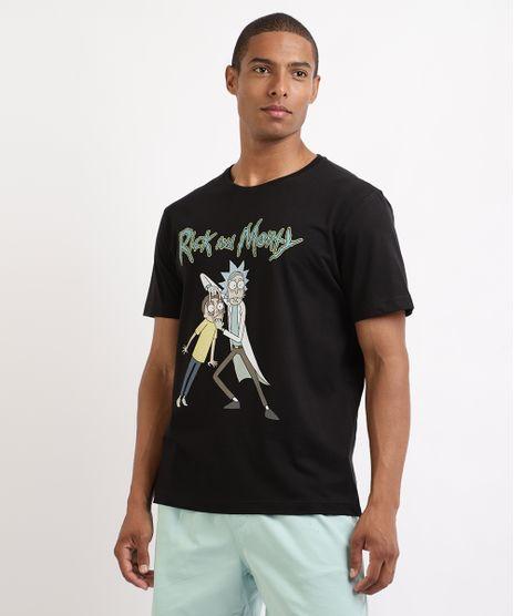 Camiseta-Masculina-Rick-e-Morty-Manga-Curta-Gola-Careca-Preta-9962584-Preto_1
