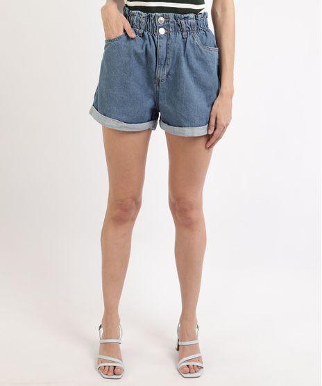 Short-Jeans-Feminino-Mindset-Clochard-Cintura-Alta-com-Barra-Dobrada-Azul-Medio-9965559-Azul_Medio_1