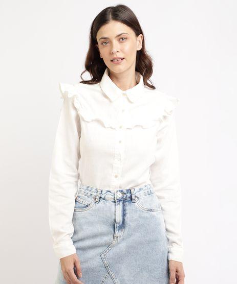 Camisa-Feminina-Mindset-com-Babados-Manga-Longa-Off-White-9965563-Off_White_1