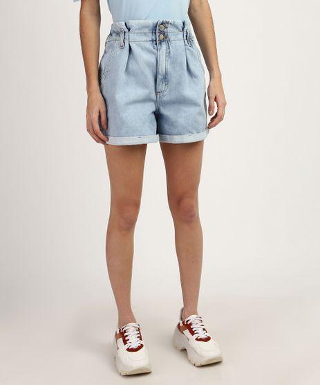 Short-Jeans-Feminino-Clochard-Cintura-Alta-Azul-Claro-9960689-Azul_Claro_1
