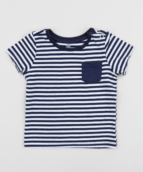 Camiseta-Infantil-Estampada-Listrada-com-Bolso-e-Botao-Manga-Curta-Azul-Marinho-9958280-Azul_Marinho_1