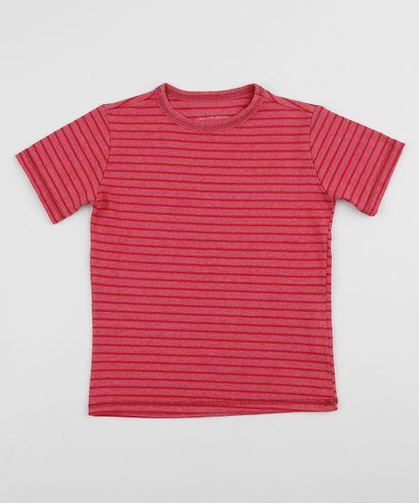 Camiseta-Infantil-Estampada-Listrada-Manga-Curta-Vermelha-9960639-Vermelho_1