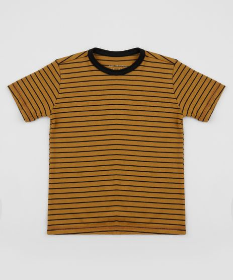 Camiseta-Infantil-Estampada-Listrada-Manga-Curta-Mostarda-9960640-Mostarda_1