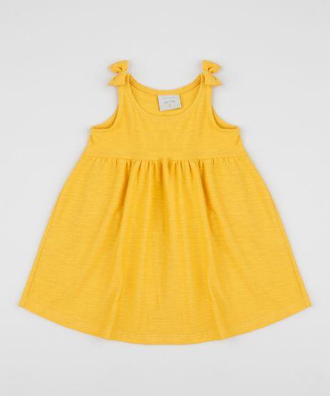 Vestido-Infantil-Alca-Media-com-Laco-Amarelo-9961487-Amarelo_1