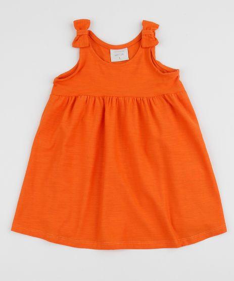 Vestido-Infantil-Alca-Media-com-Laco-Laranja-9961487-Laranja_1