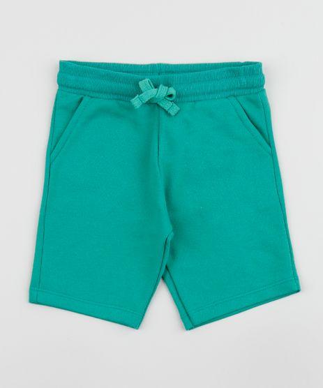 Bermuda-de-Moletom-Infantil-com-Bolsos-Verde-9961940-Verde_1