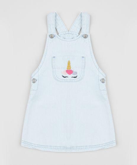 Salopete-Jeans-Infantil-Unicornio-com-Bolso-Azul-Claro-9958582-Azul_Claro_1