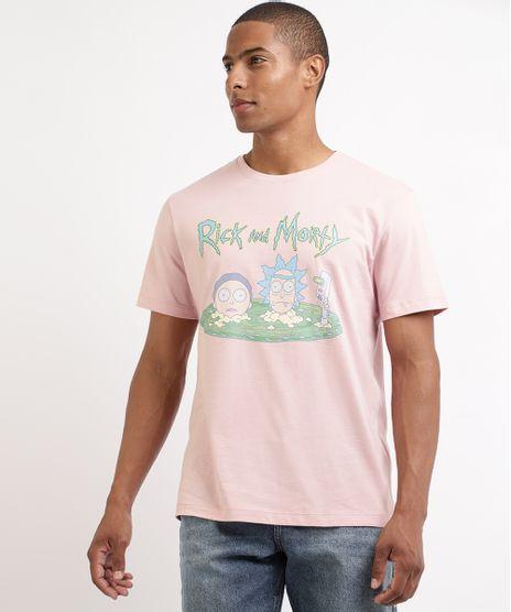 Camiseta-Masculina-Rick-and-Morty-Manga-Curta-Gola-Careca-Rosa-9962586-Rosa_1
