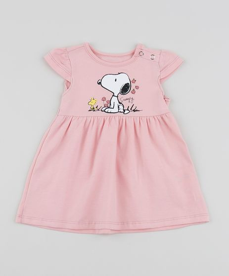 Vestido-Infantil-Snoopy-Manga-Curta-Rosa-9958274-Rosa_1