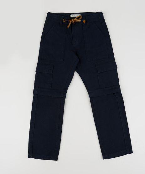 Calca-de-Sarja-Infantil-Cargo-com-Ziper-Vira-Bermuda-Azul-Marinho-9944386-Azul_Marinho_1