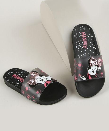Chinelo-Infantil-Grendene-Slide-Minnie-Fashion-Preto-9962137-Preto_1